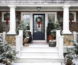 christmas, house, and snow image