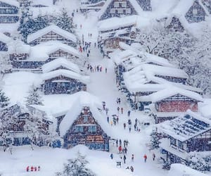 japan, ski resort, and snow image