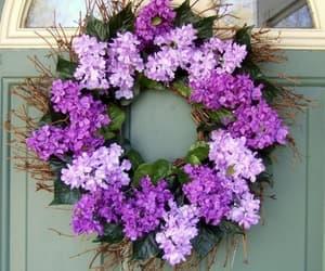 flowers, lavanda, and wreath image