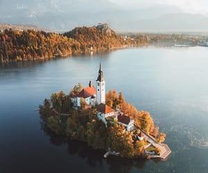 autumn, church, and fall image