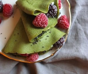 berry, crepes, and yummy image
