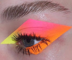 makeup, orange, and pink image