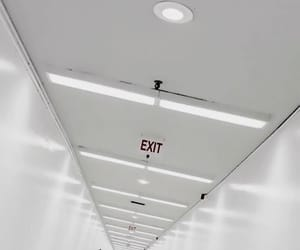 exit, white, and aesthetic image