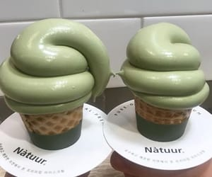 green, soft serve, and sweet image