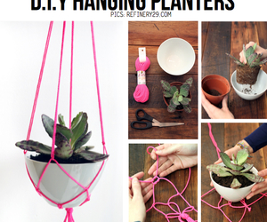 diy, garden, and hanging planters image