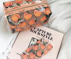 peach, aesthetic, and white image