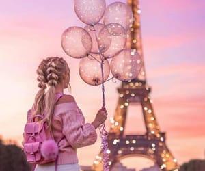 girl, pink, and paris image