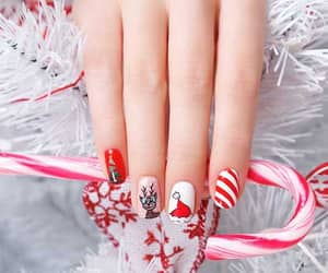 beauty, christmas, and nail art image