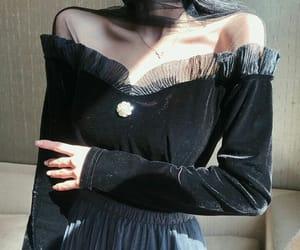 asian fashion, black, and korean fashion image