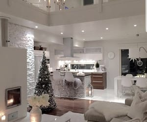home, interior, and christmas image