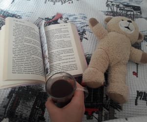 book, read, and teddy bear image