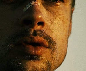 brad pitt, cry, and actor image