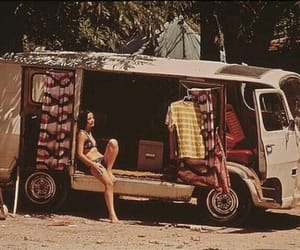hippie, girl, and vintage image