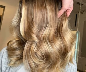 blonde hair, christmas, and curly hair image