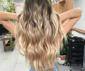 blonde hair, hair, and salon image