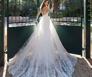 bride, wedding day, and wedding dress image