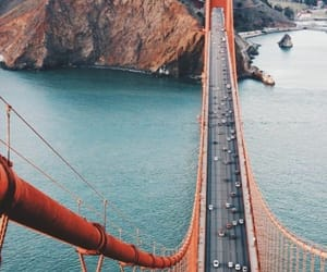 travel, san francisco, and bridge image
