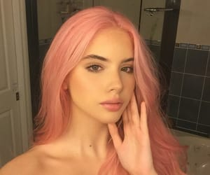 beauty, haïr, and pink hair image