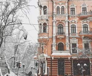 snow, winter, and winter city image