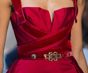 Couture, red, and dress image