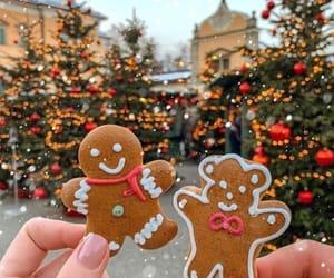 christmas, Cookies, and lights image
