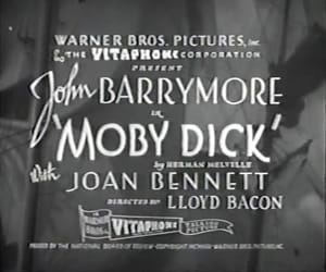 john barrymore, moby dick, and movie image