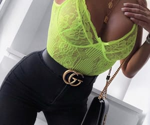 black, gucci, and lace image