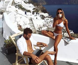 couple, Greece, and outfit image