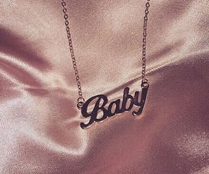 baby, pink, and necklace image