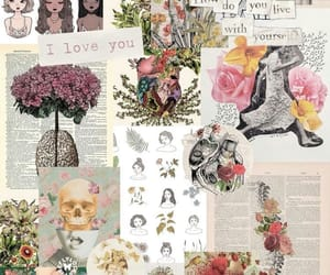 wallpaper, flowers, and girl image