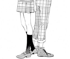 black&white, monochrome, and manga shojo image