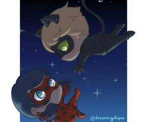 Chat Noir, chibi, and ladybug image
