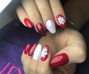 christmas, red, and love nails image
