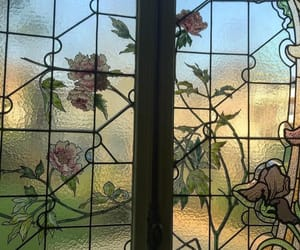 flowers, photography, and stained glass window image