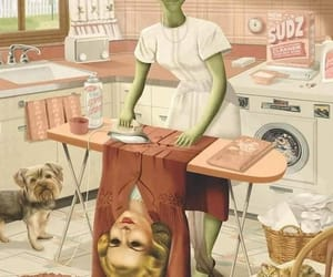 alien and woman image