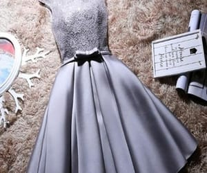 short homecoming dresses, homecoming dresses a-line, and grey homecoming dresses image