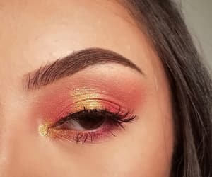 brown eyes, halo, and brows image