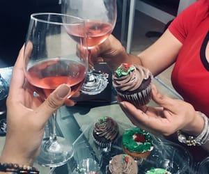 christmas, wine, and christmas dinner image