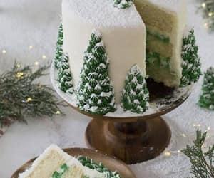 cake, christmas, and sweets image