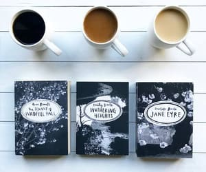 books, bronte, and coffee image