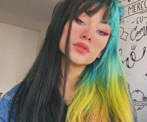 awesome hair, colors, and girl image