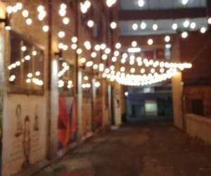 alleyway, lights, and street image