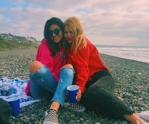 beach, bff, and blonde image