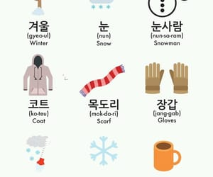 korean, languages, and vocabulary image