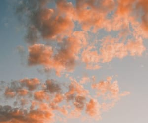 clouds, grunge, and orange image