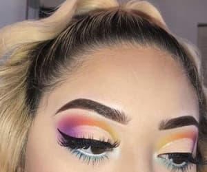 eyeshadow, makeup, and brows image