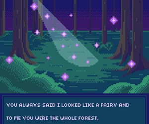 forest, gif, and light image
