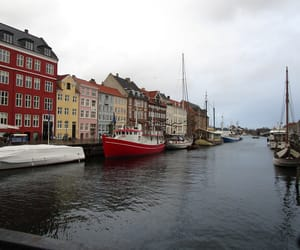 city, colours, and water image
