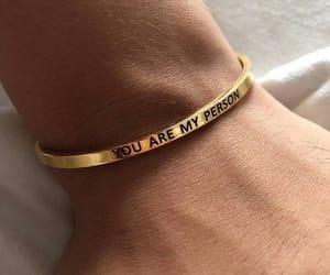 accessoires, bracelet, and gold image