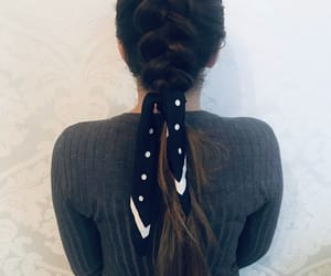 braid, hairstyle, and braidedhair image
